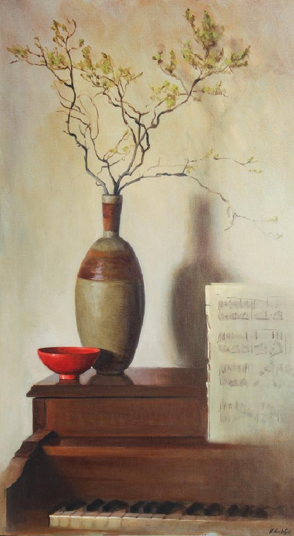 Helen Van Wyk Still Life with Red Bowl