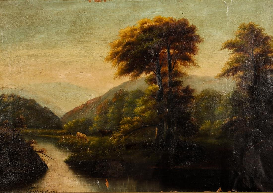 George T. Hetzel attributed to Landscape with Cows