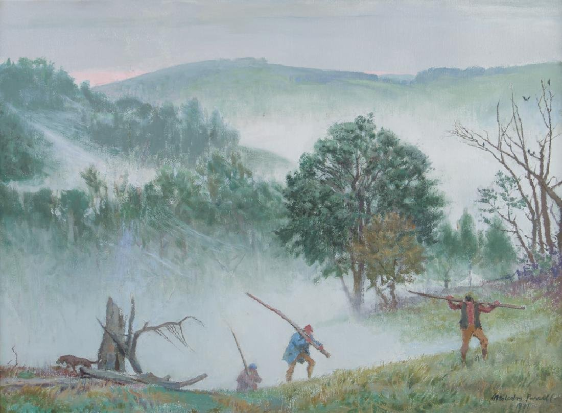 Malcolm Parcell Landscape with Wood Gatherers, 1981