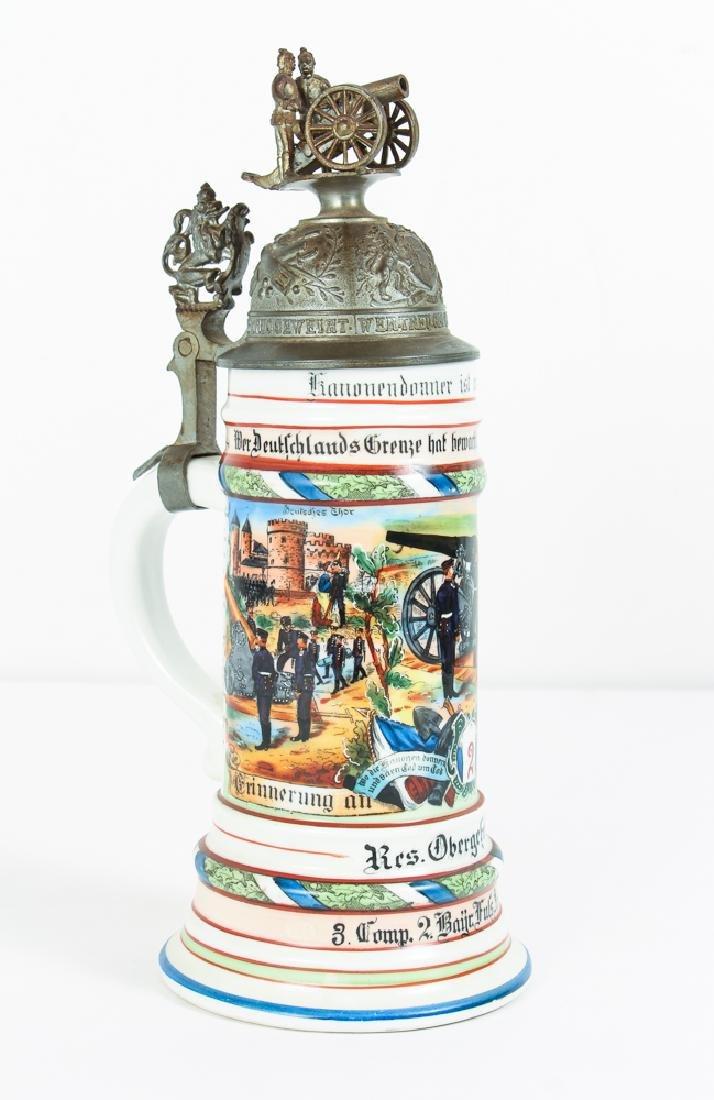 Antique German Regimental Lithophane Stein