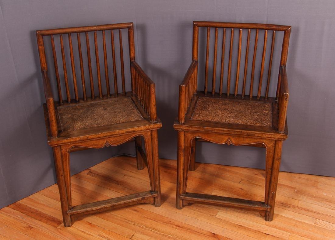 Pair of Chinese Hardwood Chairs