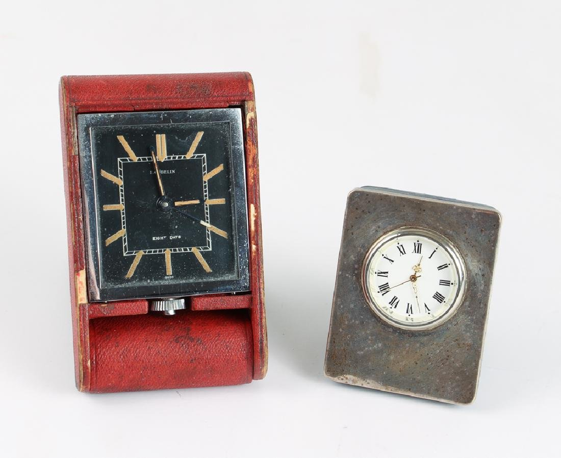 E Gubelin and Garrard Travel or Desk Clock
