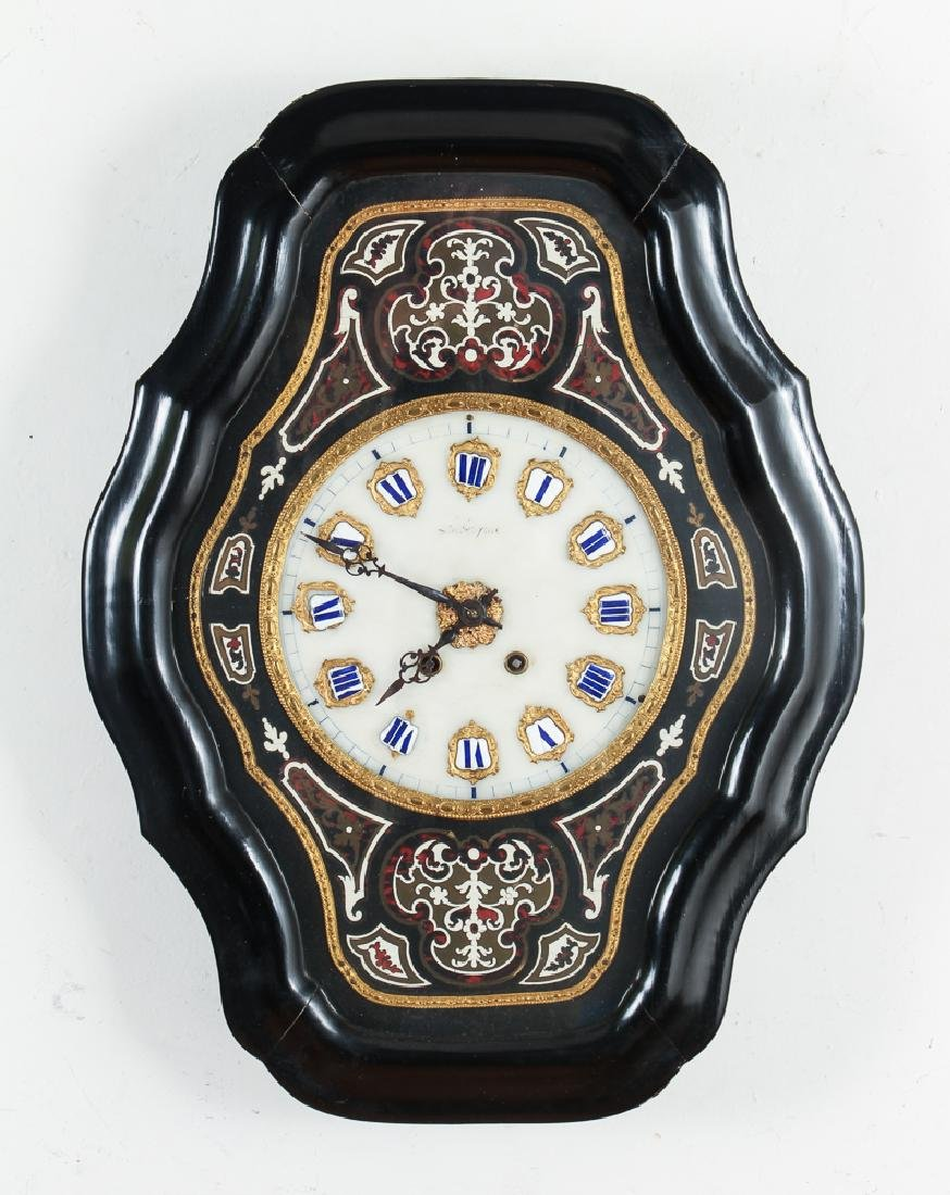 Large French 19th Century Wall Clock