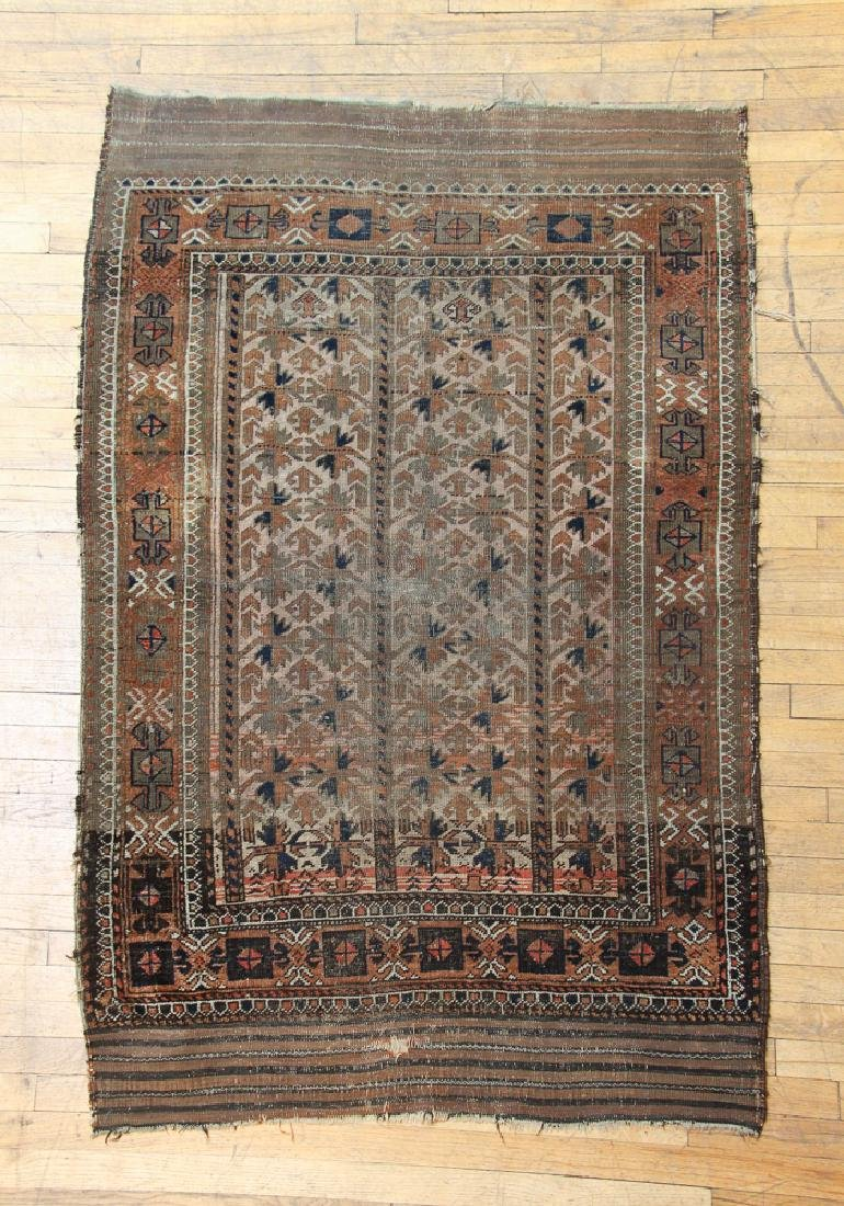 Antique Caucasian Throw Rug
