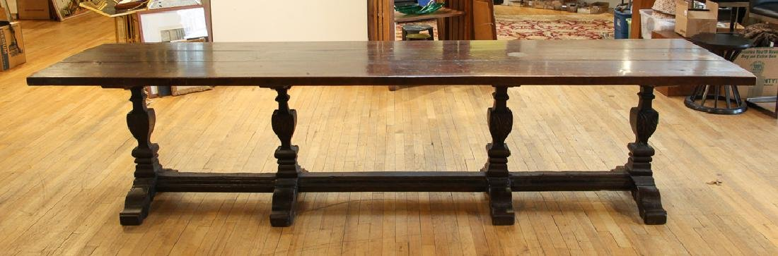 Italian Renaissance Style Refectory Table