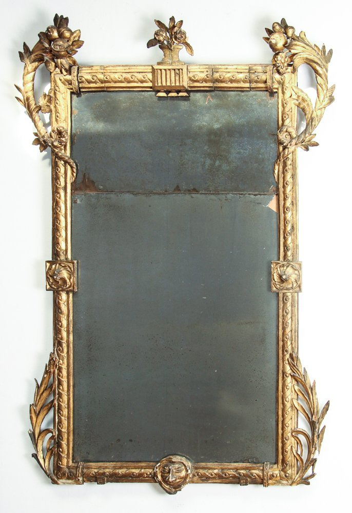 Large Continental Carved and Gilt Mirror