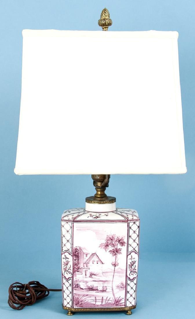 Quimper Style Ceramic Lamp