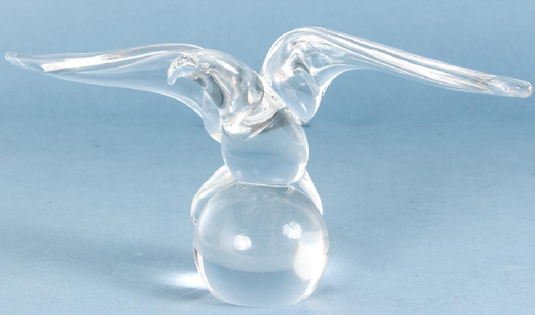 Four Steuben Crystal, Excaliber, Horse, Footed