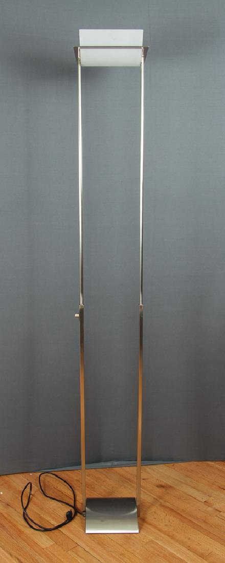 Contemporary Chrome and Glass Halogen Floor Lamp