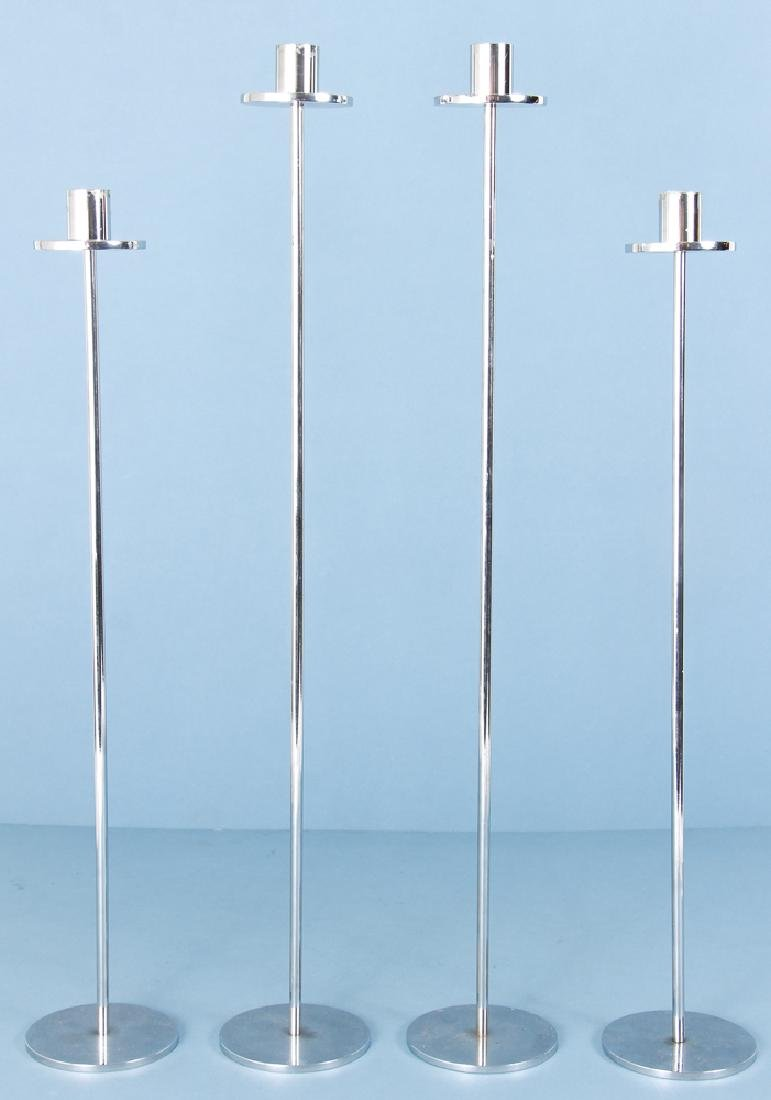2 pairs of Modern Pickett Style Aluminum Candlesticks