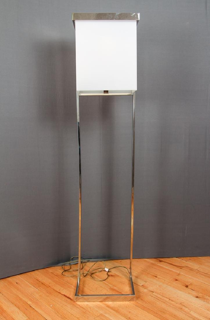 Milo Baughman Style Mid Century Floor  Lamp