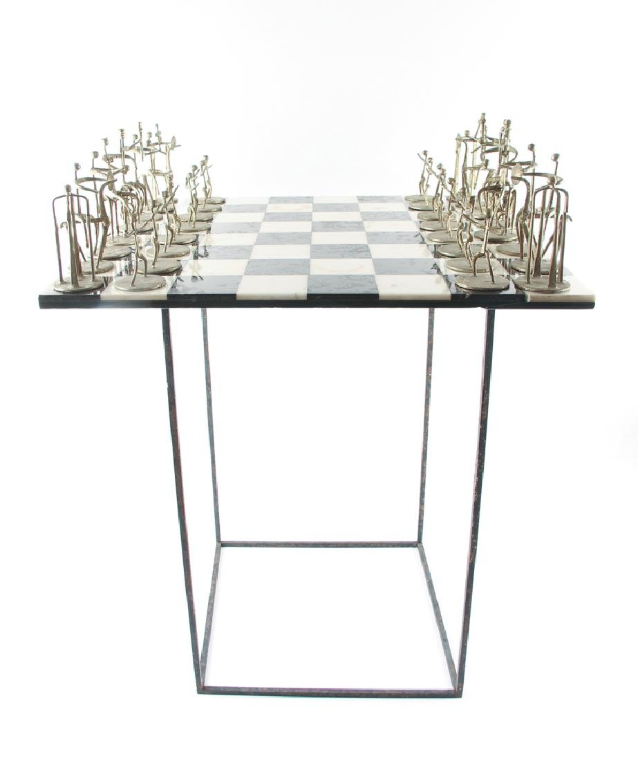 Henry Bursztynowicz Chess Set and Game Board