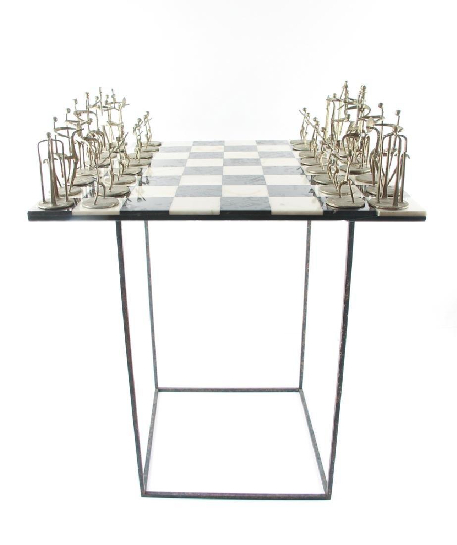 Henry Bursztynowicz Chess Set and Game Board