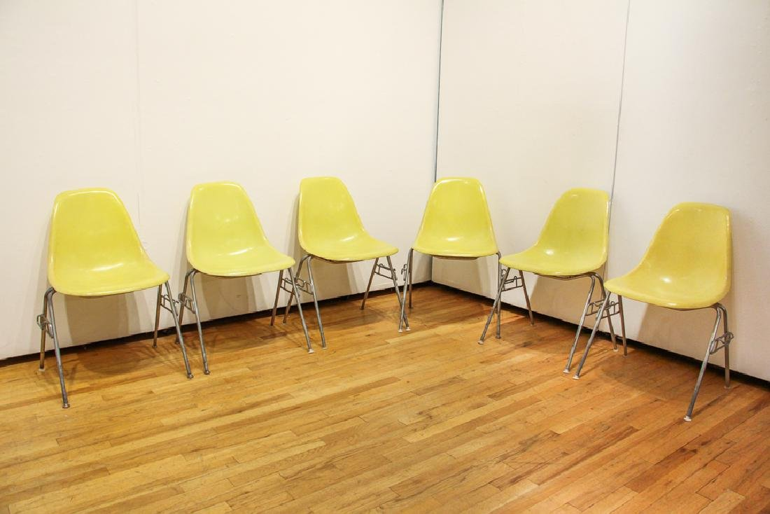 Six Eames for Herman Miller Shell Chairs