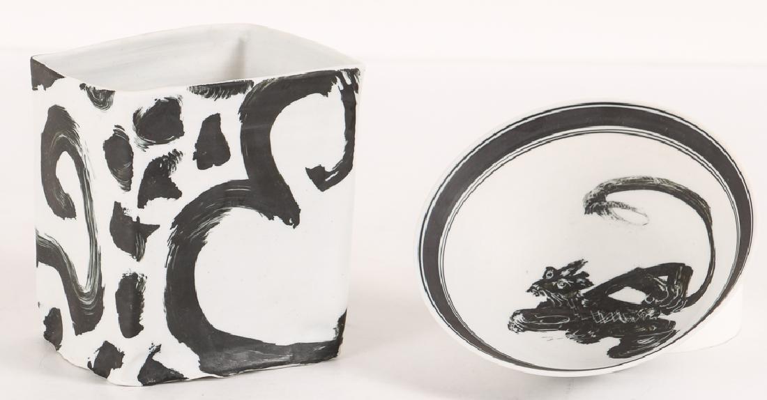Two Edward Eberle Porcelain Vessels
