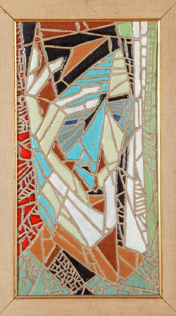 Harris Strong Framed Abstract Tile Mosaic Portrait