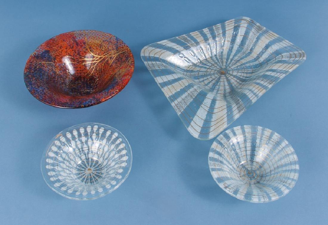 Assorted Higgins Art Glass Bowls