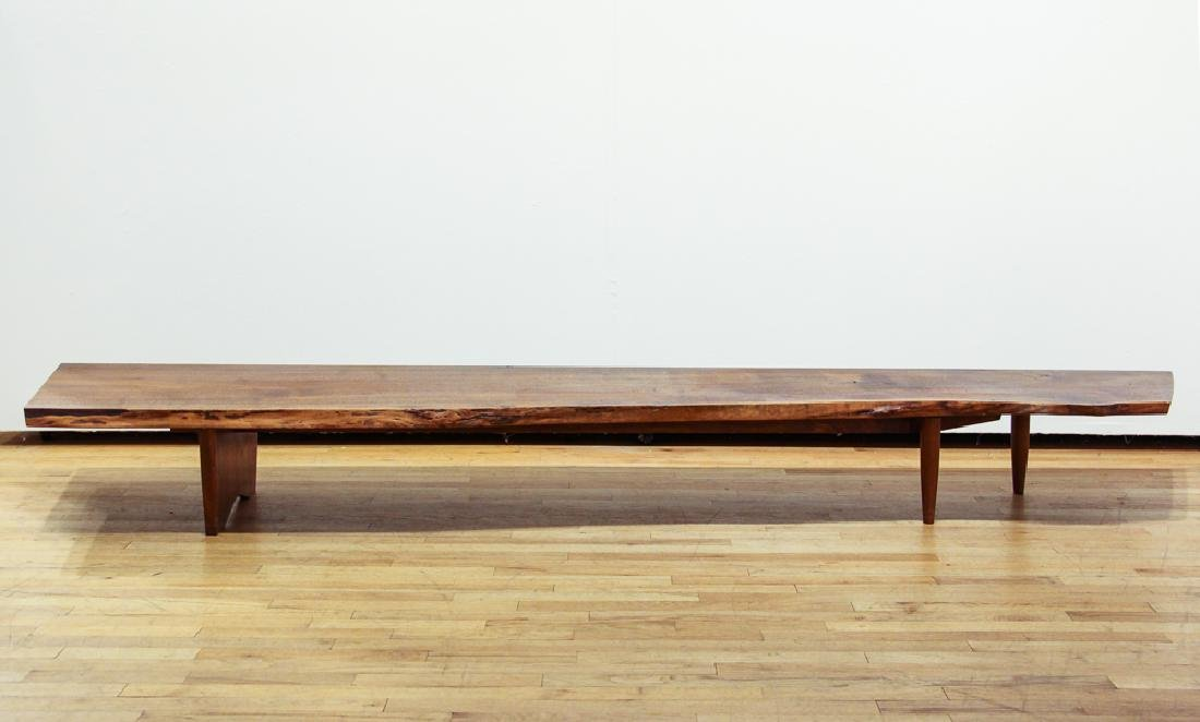 George Nakashima Early Free Edge Long Bench or Table