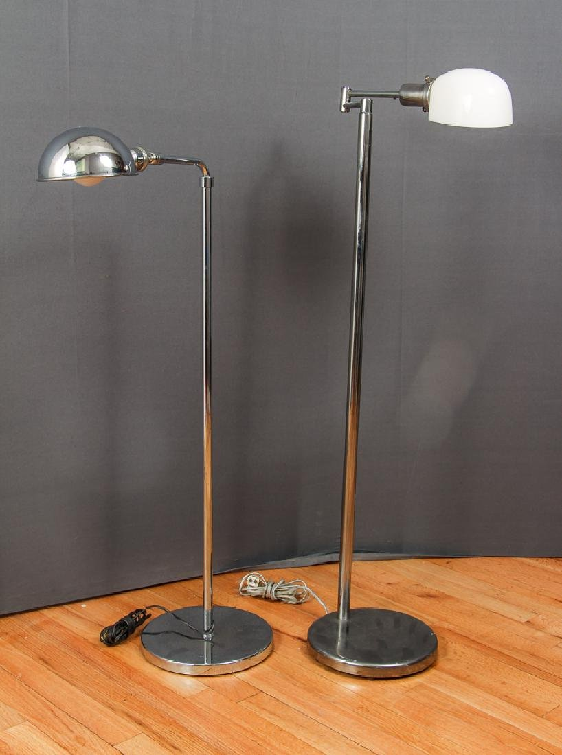 2 chrome floor lamps by Nesson and Phoenix Day
