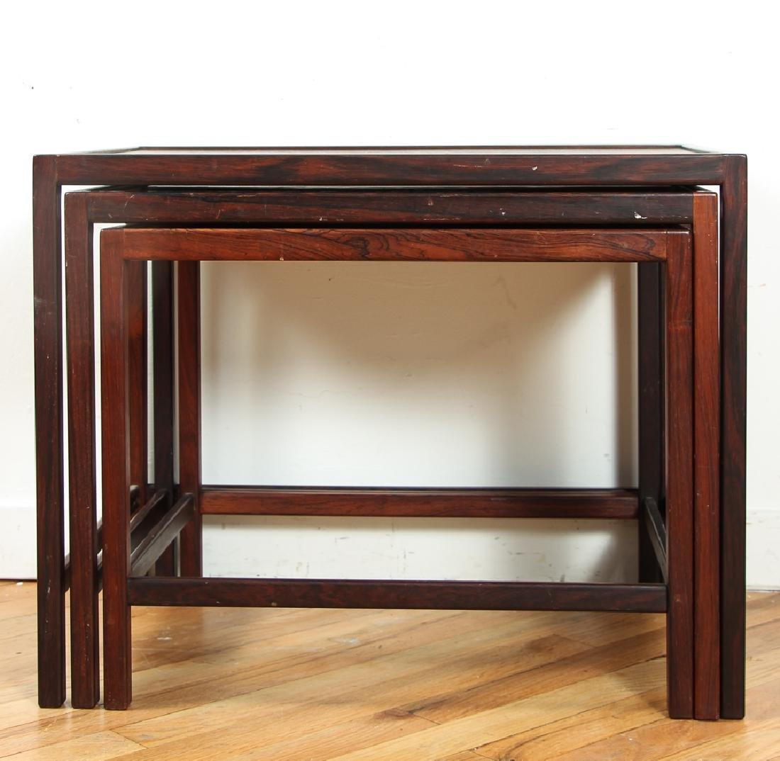 Kurt Ostervig Rosewood Nesting Tables