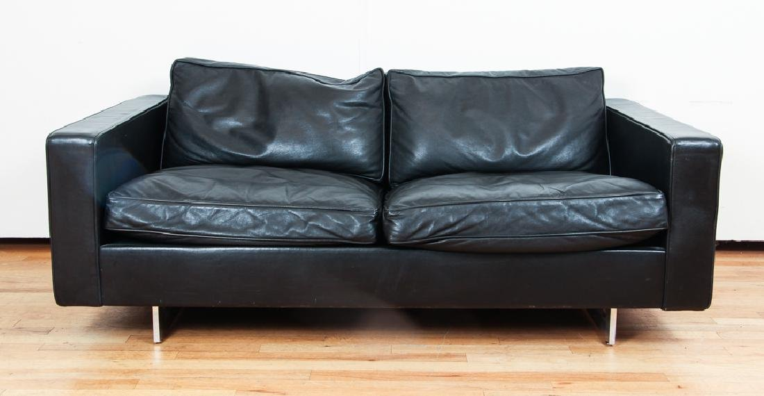 Jens Risom Design Inc.2 Cushion Leather Sofa