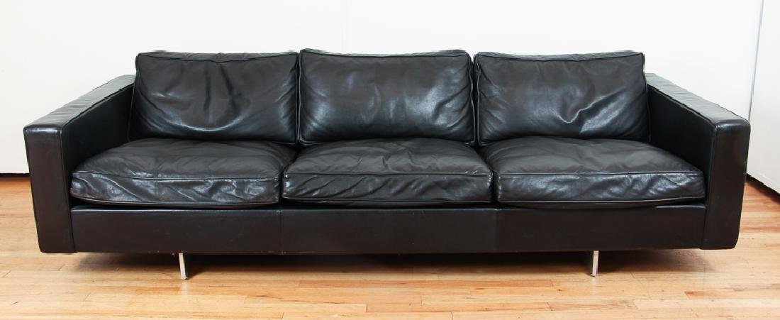 Jens Risom Design Inc. 3 Cushion Leather Sofa