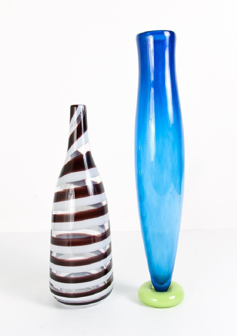 2 Kosta Boda Art Glass Vases by Gunnil Sahlin