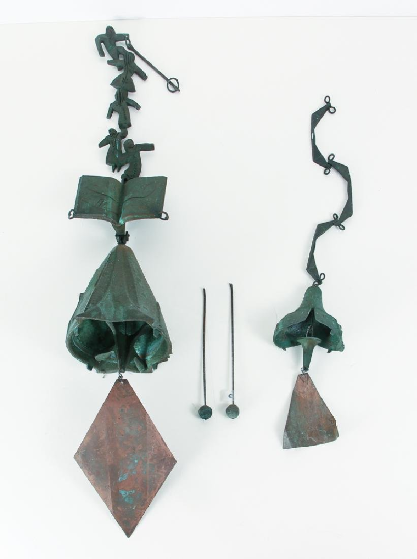 Two Paolo Soleri Acrosanti Windbell Wind chimes