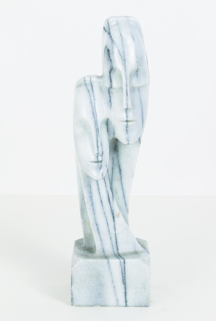 Modernist Marble Bust of Two Figures