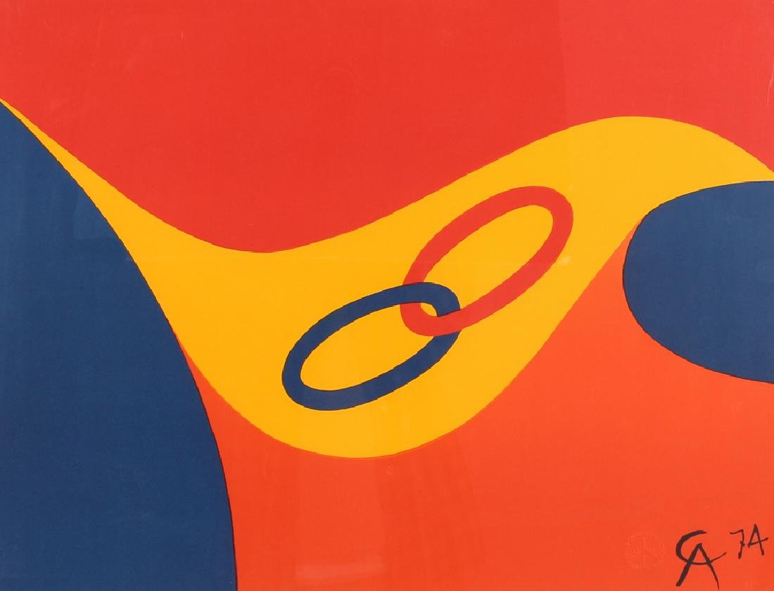 Alexander Calder Flying Colors Lithograph and Other