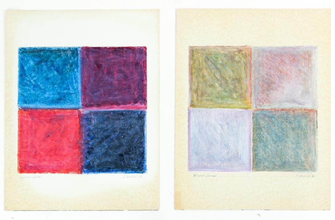 2 Jane Haskell Window Series Studies from 1982