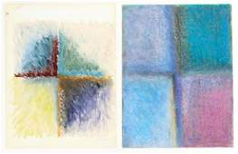 2 Jane Haskell Window Series Studies 1984 and 1982