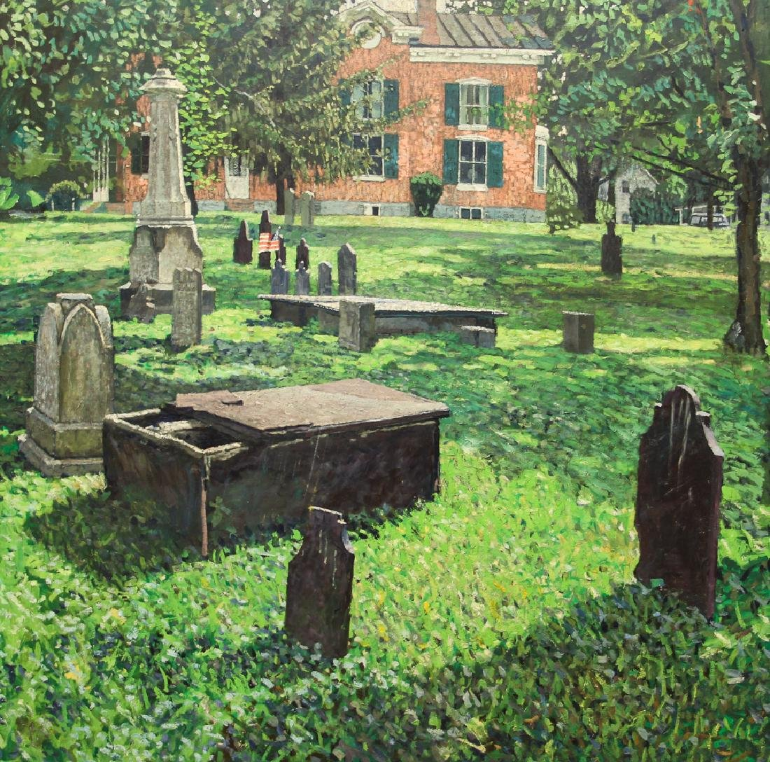 Kevin Kutz Oil on Board Cemetery