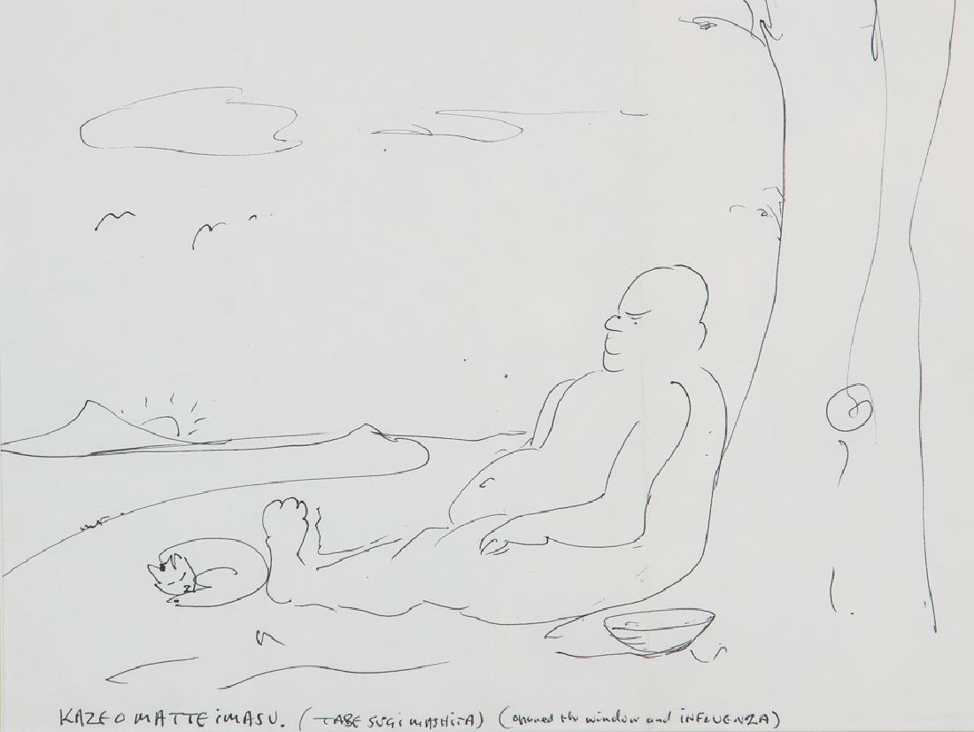 "John Lennon ""Opened the Window"" Drawing"