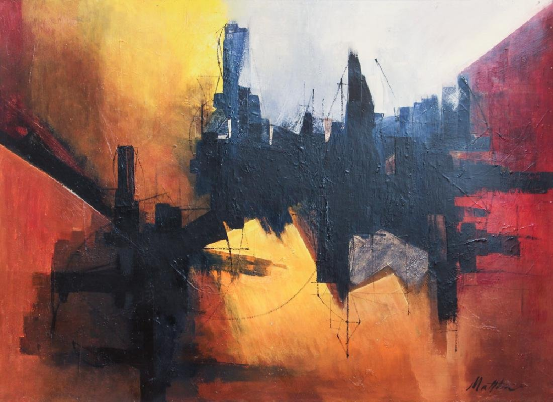 Matthews 1964 Abstraction acrylic