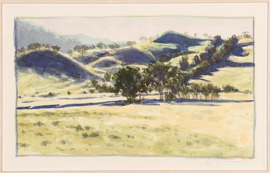 Gordon Mortensen High Meadow Watercolor