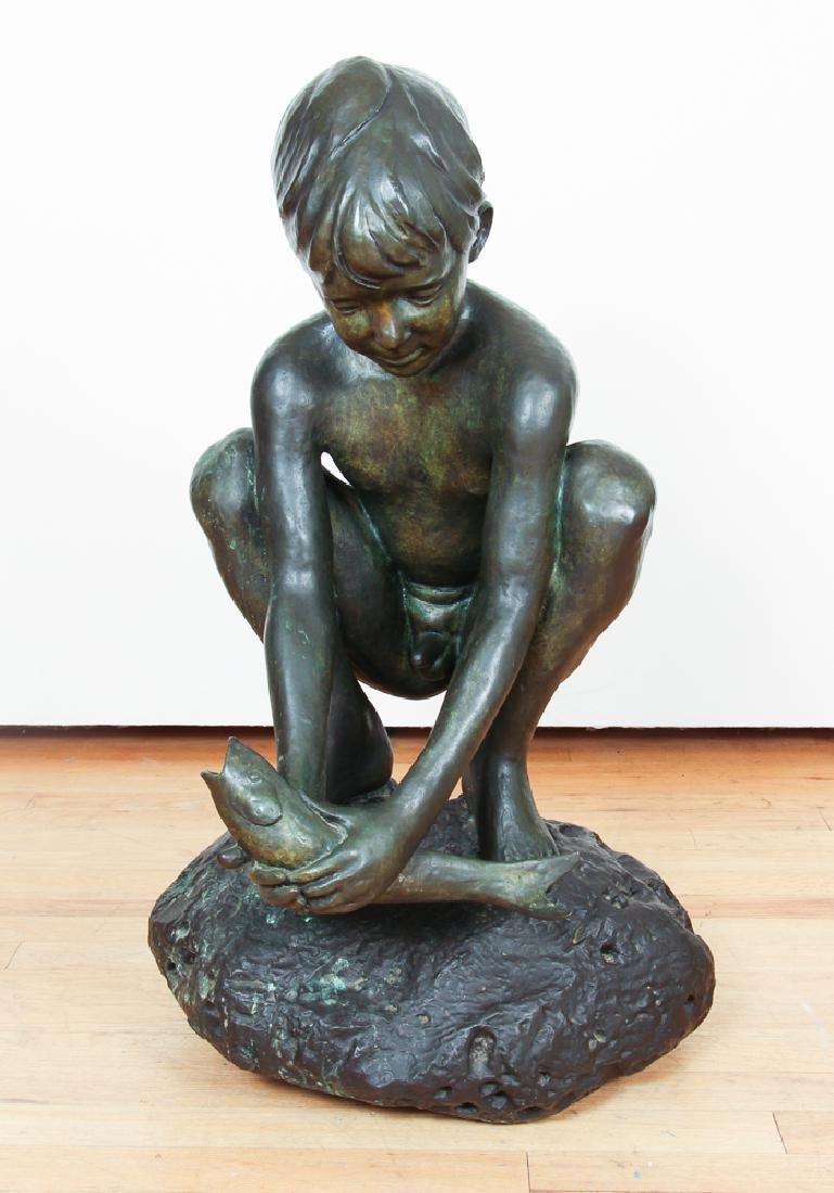 Enzo Plazzotta Young Boy Sculpture