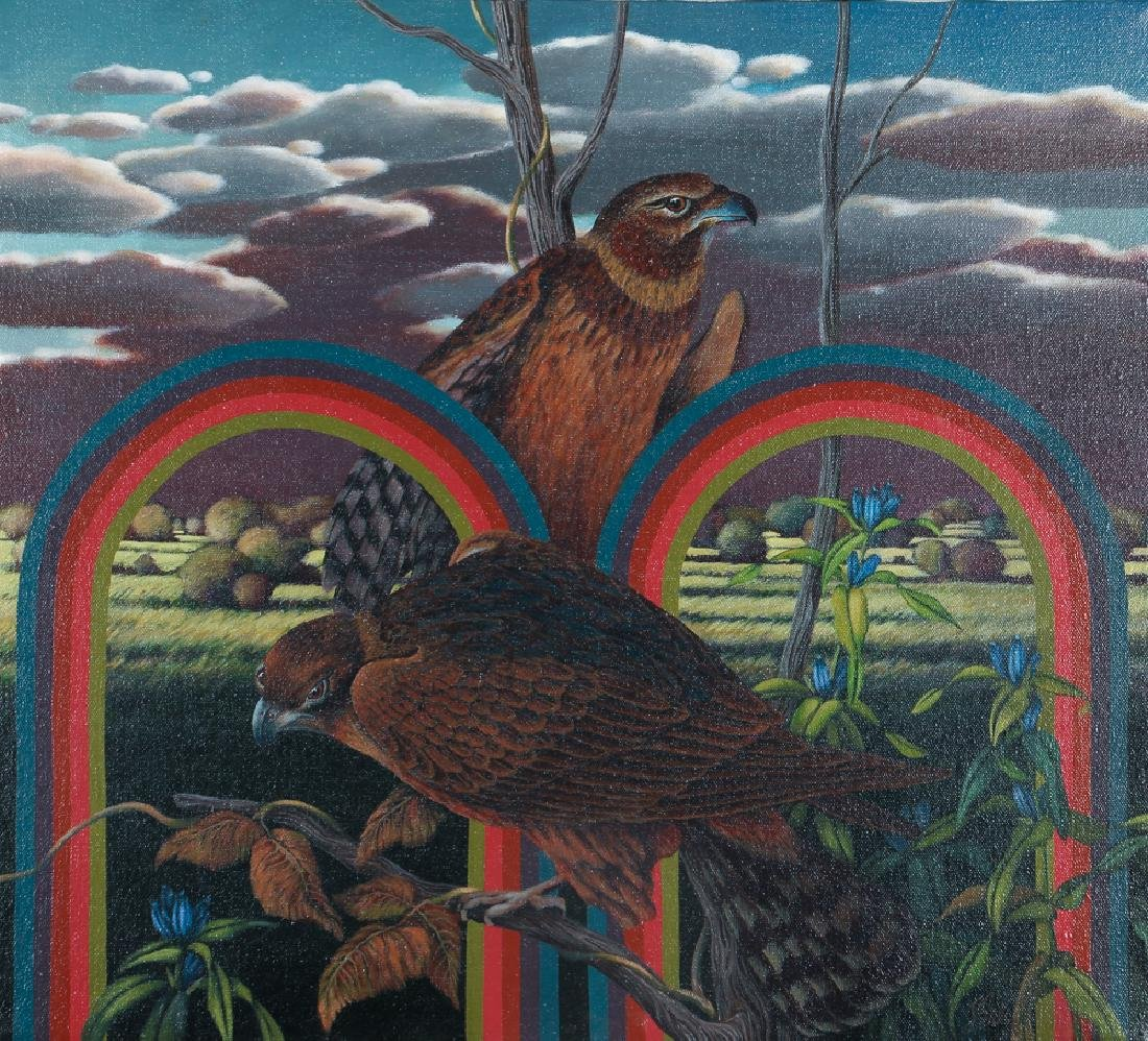 Jim Salem painting Swamp Hawks 1976 Key West Artist