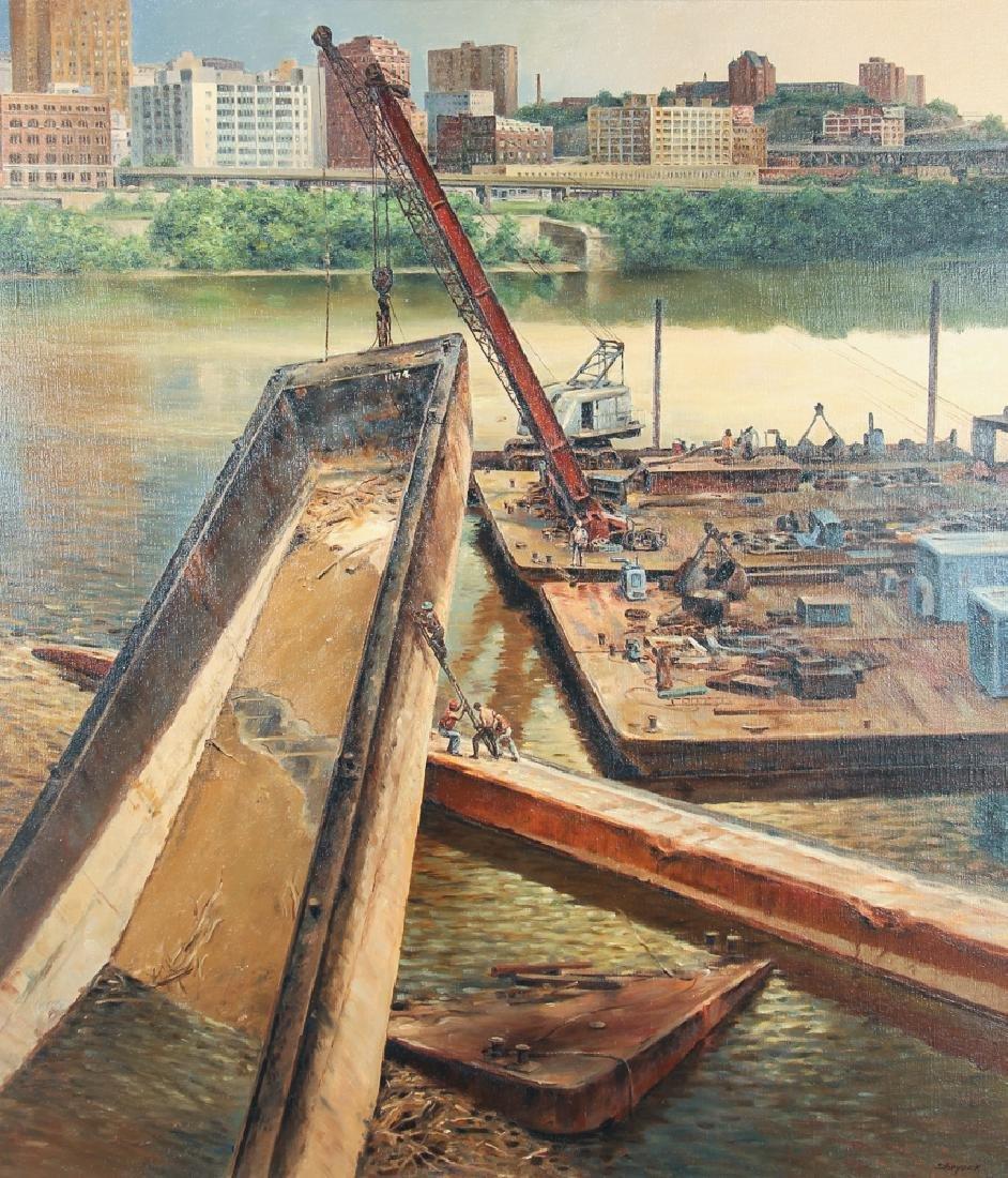 John Shryock Mon River Scene Painting