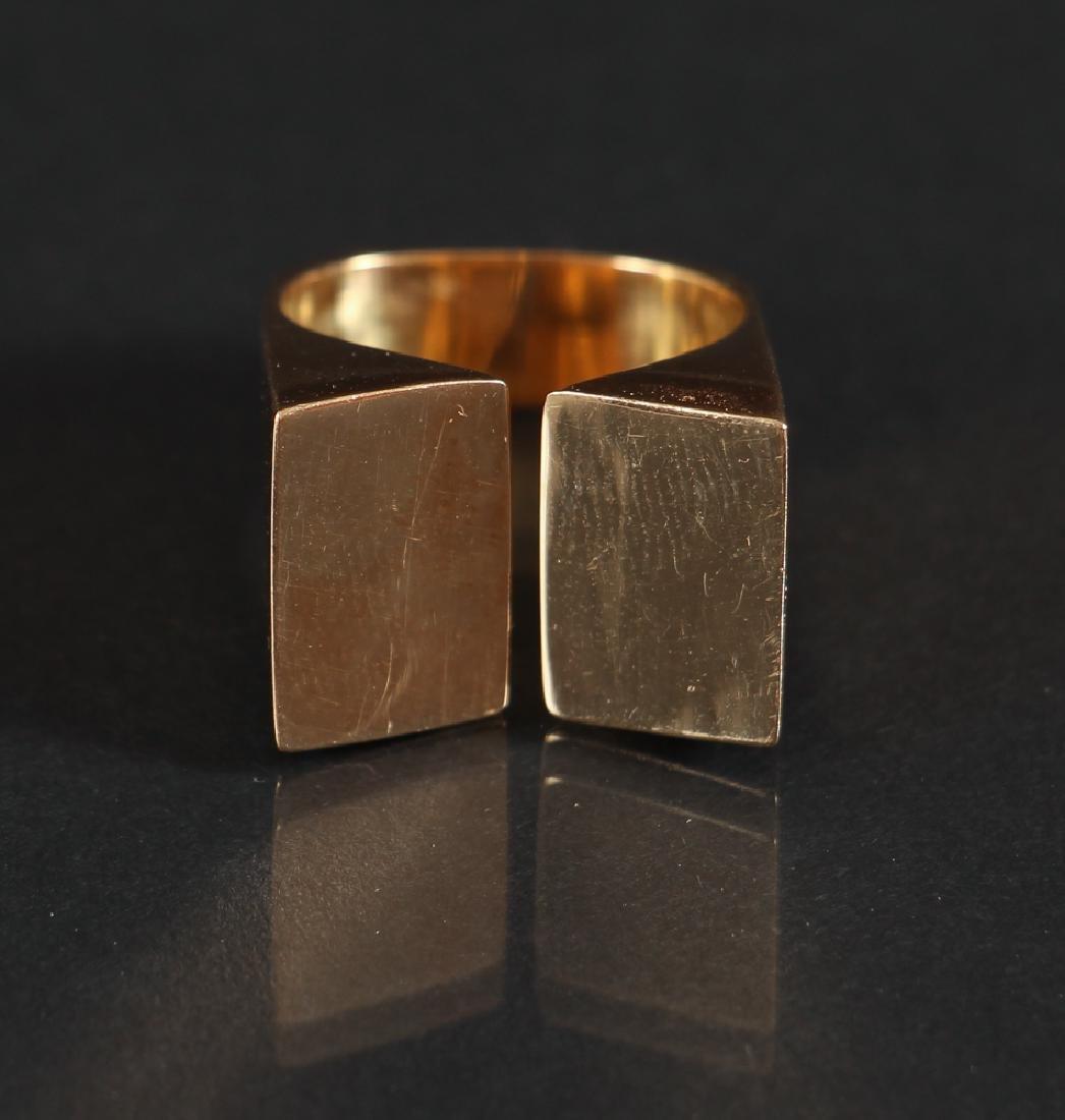 Modernist Gold Ring