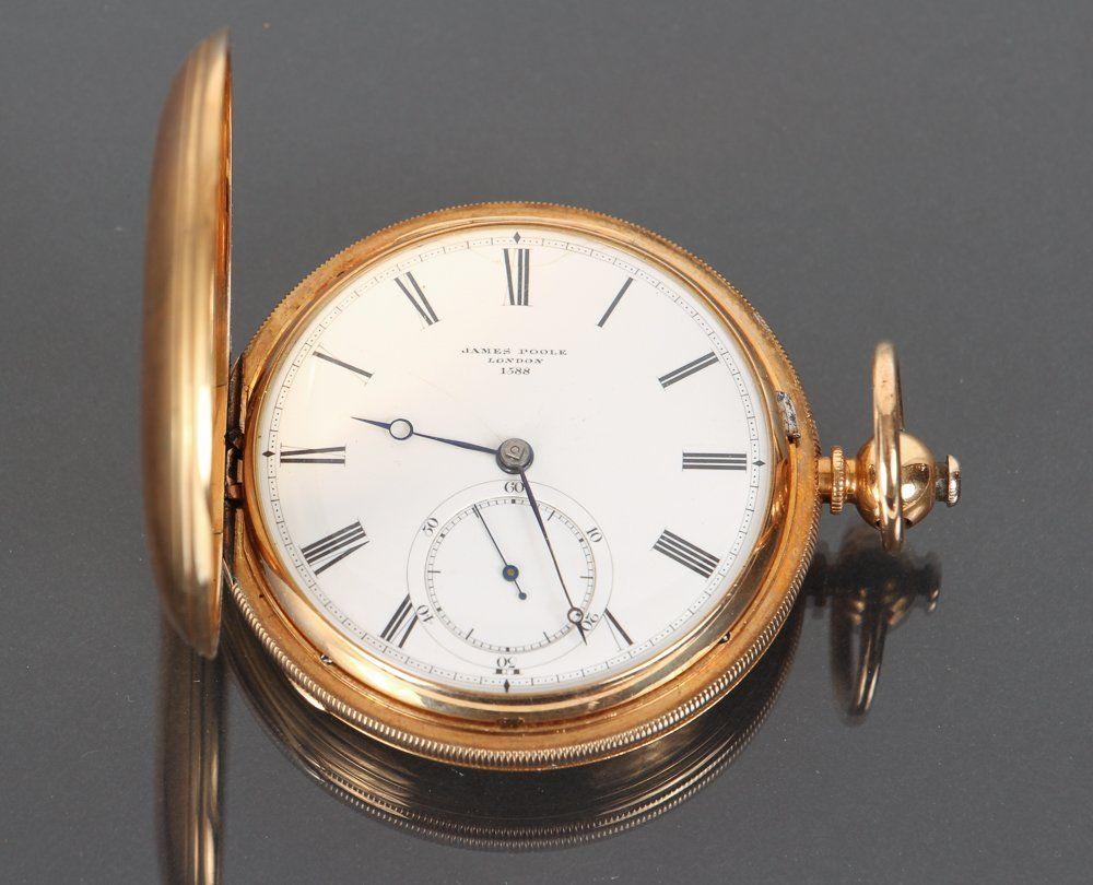 18K Gold Cased James Poole Pocket Watch