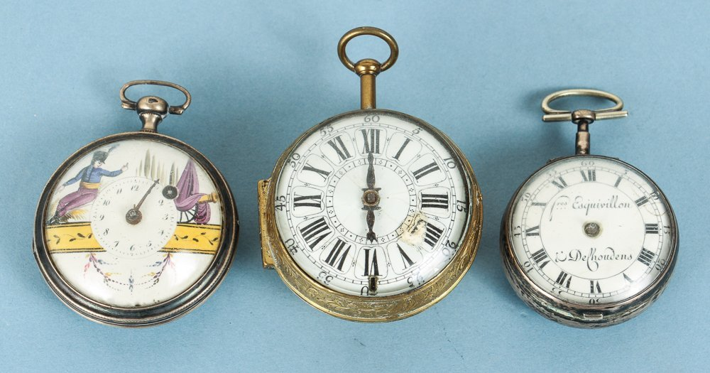 Three Fusee Pocket Watches