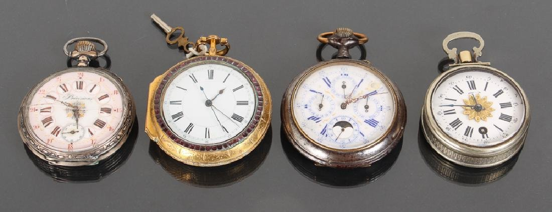 Four Ornate Pocket Watches