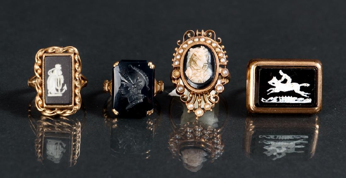 Four Victorian or Edwardian Gold Rings