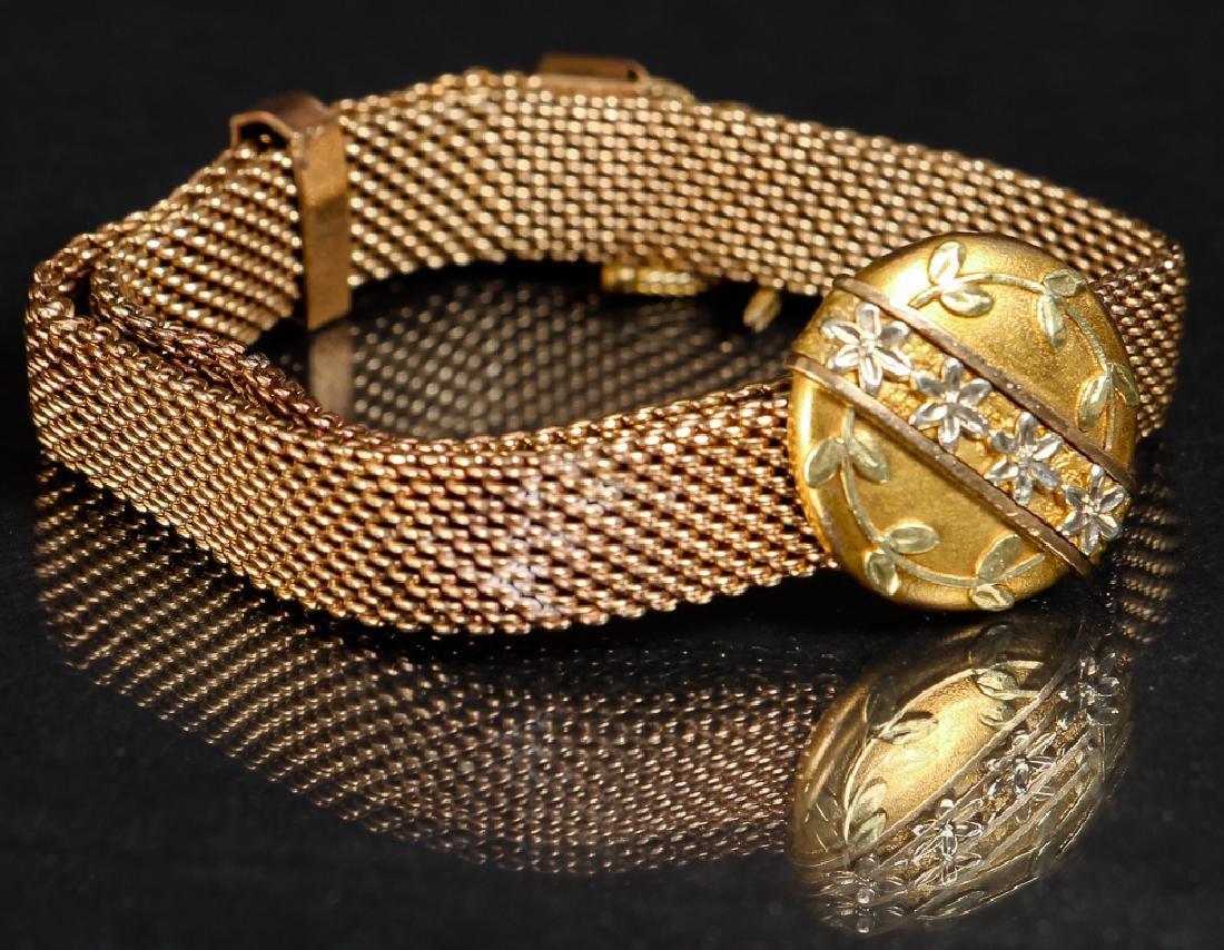 Victorian Gold Chain Slide Bracelet