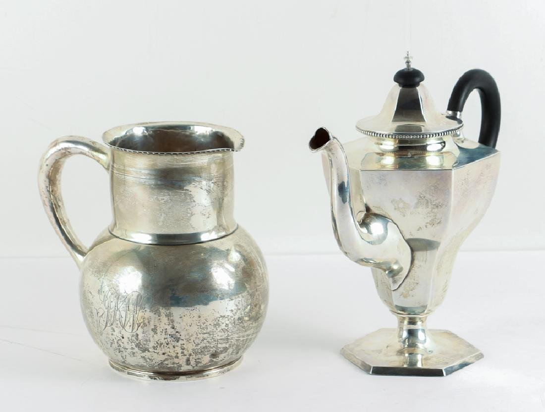 Sterling Silver Pitcher and Teapot