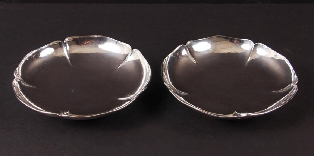 Pair Kalo Shop Footed Sterling Silver Bowls