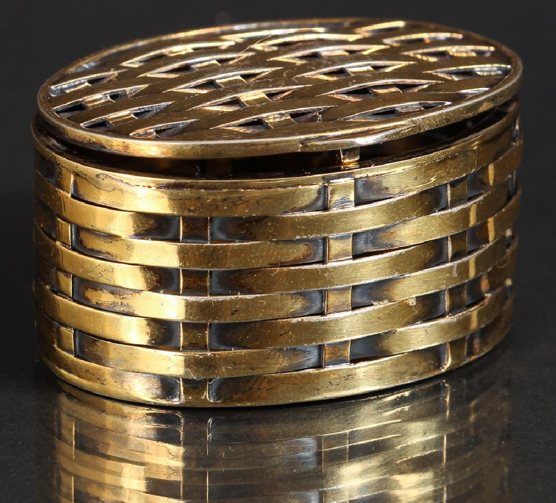 Tiffany Vermeil Basket Weave Pillbox