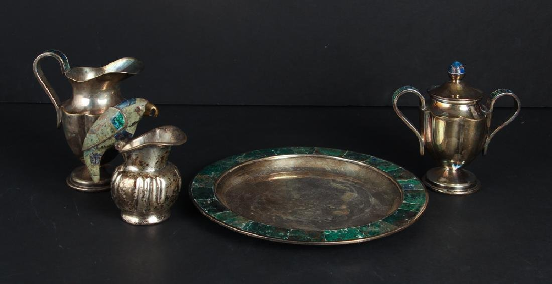 Los Castillo Taxco Creamer and Sugar Set