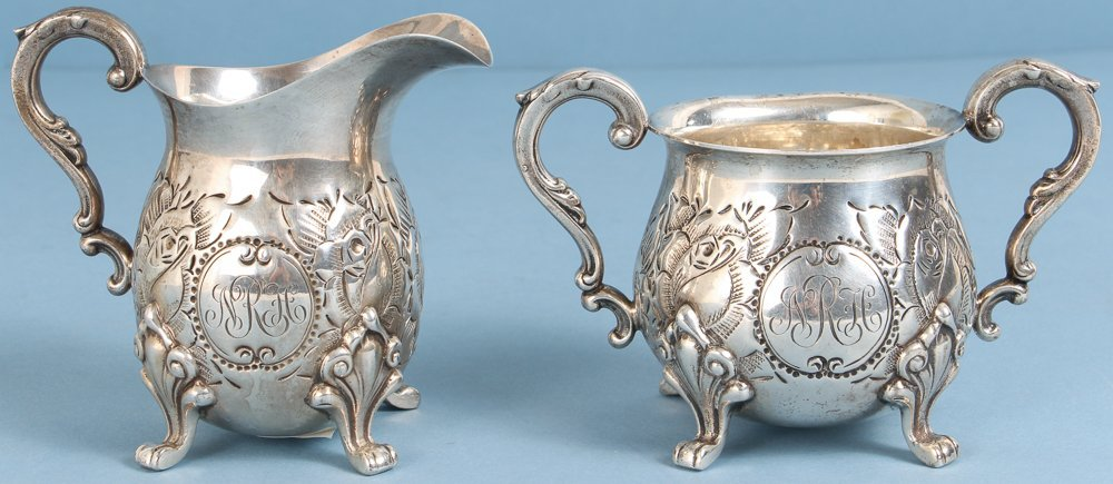Baldwin and Miller Sterling Sugar and Creamer